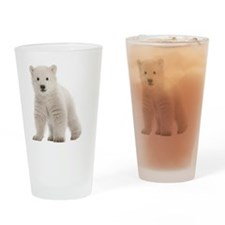 Polar bear cub Drinking Glass