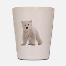 Polar bear cub Shot Glass