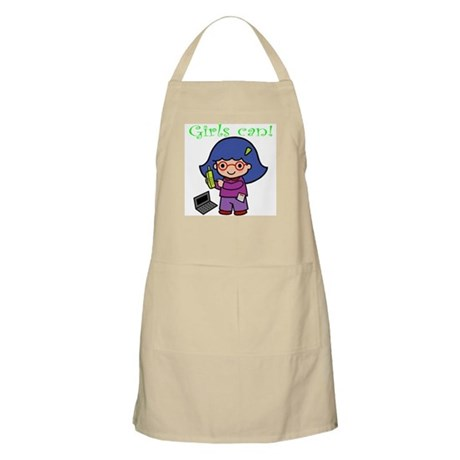 Girl Computer Professional BBQ Apron