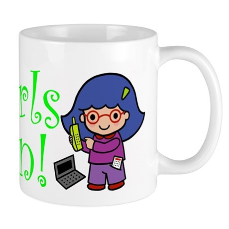 Girl Computer Professional Mug