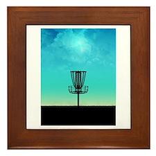 Disc Golf Basket Framed Tile