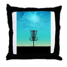 Disc Golf Basket Throw Pillow