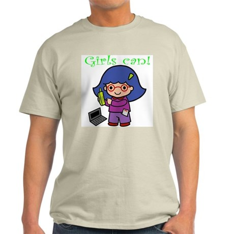 Girl Computer Professional Light T-Shirt
