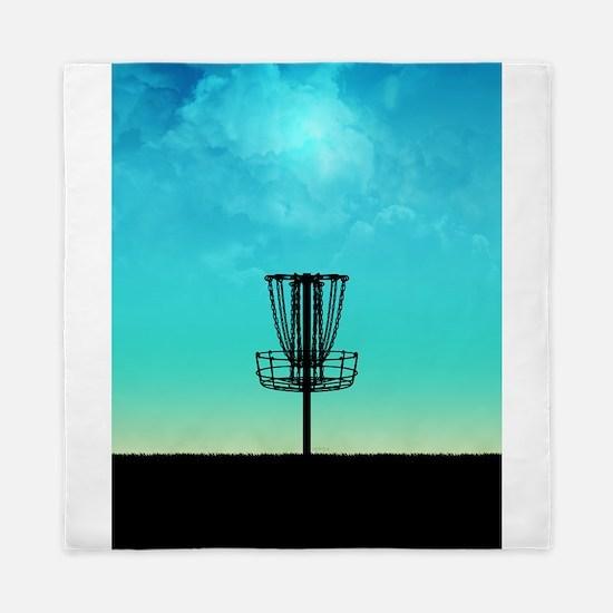 Disc Golf Basket Queen Duvet