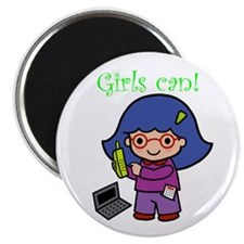Girl Computer Professional Magnet