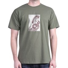 Earth Tone Sea Unicorn T-Shirt