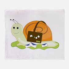 Snail Mailman Throw Blanket