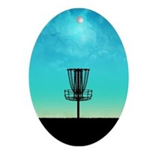 Disc Golf Basket Ornament (Oval)