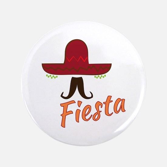 """Fiesta Sombrero 3.5"""" Button"""