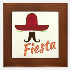 Fiesta Sombrero Framed Tile