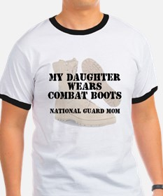 National Guard Mom Daughter wears DCB T-Shirt
