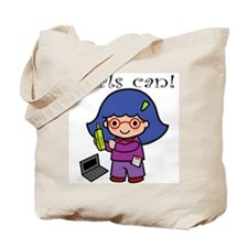 Girl Computer Professional Tote Bag