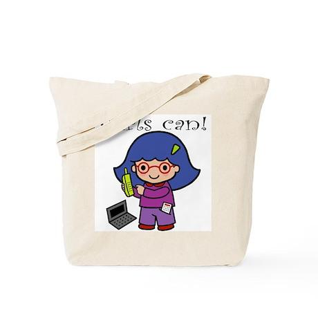 Girl Computer Professional Tote Bag