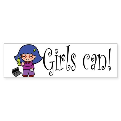 Girl Computer Professional Bumper Sticker