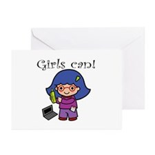 Girl Computer Professional Greeting Cards (Package