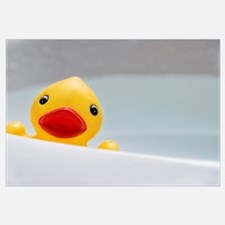 Rubber Duck In Bathroom Sink