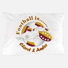 Football Colors Claret And Amber Pillow Case