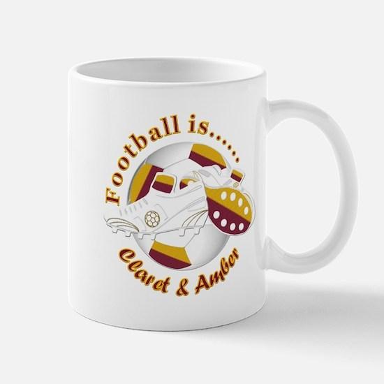 Football Colors Claret and Amber Mugs