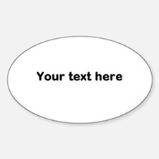 Template Your Text Here Decal