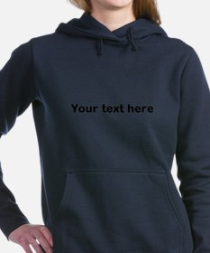 Template Your Text Here Women's Hooded Sweatshirt