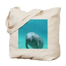 Seacow or Manatee Swimming Undereater in  Tote Bag