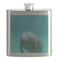 Seacow or Manatee Swimming Undereater in Cry Flask