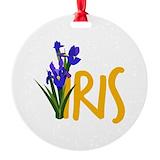 Iris Round Ornament
