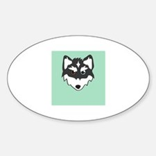 Husky Head Decal