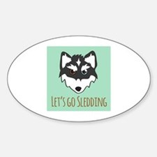 Lets Go Sledding Decal