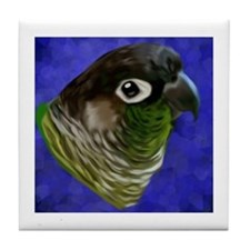 Cool Green cheeked conures Tile Coaster
