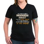 YKYASA - Garage Women's V-Neck Dark T-Shirt