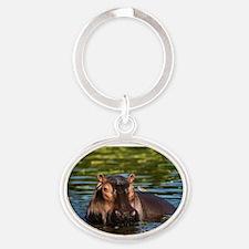 The Hippopotamus. Oval Keychain