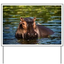 The Hippopotamus. Yard Sign