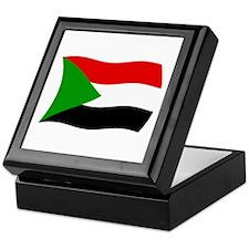 Sudan Flag 2 Keepsake Box