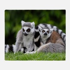 two ring tailed lemurs Throw Blanket