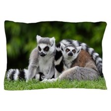 two ring tailed lemurs Pillow Case