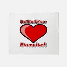Beat Heart Disease Exercise Throw Blanket