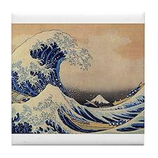 Funny The great wave off kanagawa Tile Coaster