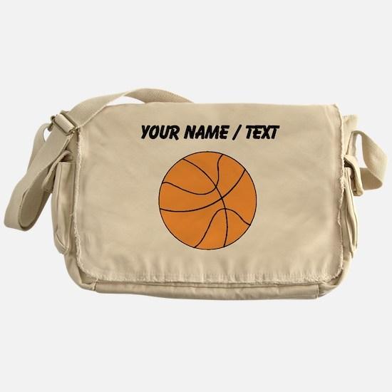 Custom Orange Basketball Messenger Bag