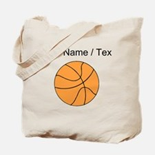 Custom Orange Basketball Tote Bag
