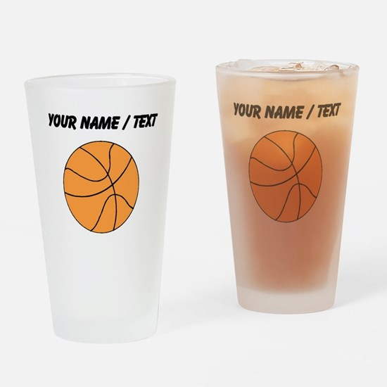 Custom Orange Basketball Drinking Glass