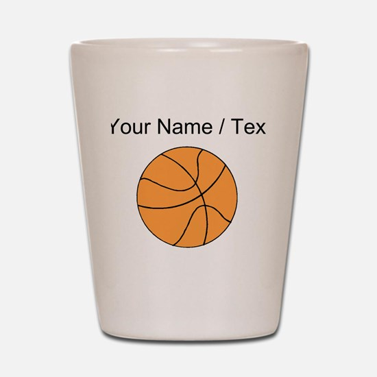 Custom Orange Basketball Shot Glass