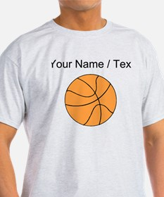 Custom Orange Basketball T-Shirt