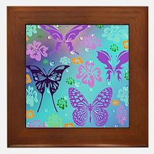 Unique Floral pattern Framed Tile