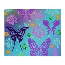 Unique Purple butterfly Throw Blanket
