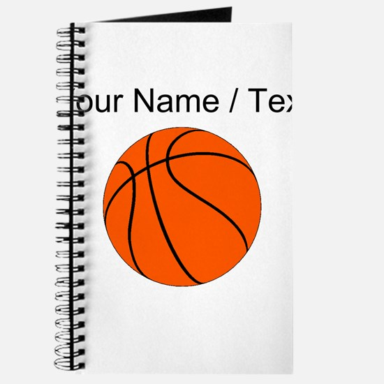 Custom Orange Basketball Journal