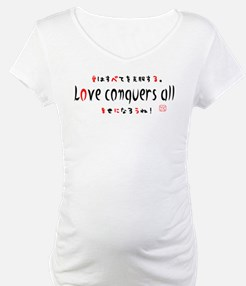 Love conquers all by child kids. Shirt