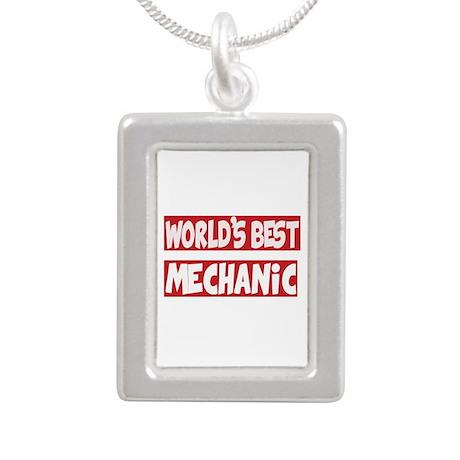 World's Best Mechanic Silver Portrait Necklace