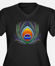 peacock feather Plus Size T-Shirt
