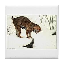 Bobcat Art Tile Coaster